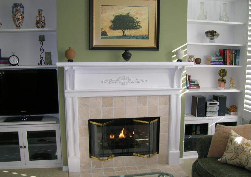 Custom Fireplace Surround & Built-in Shelves.