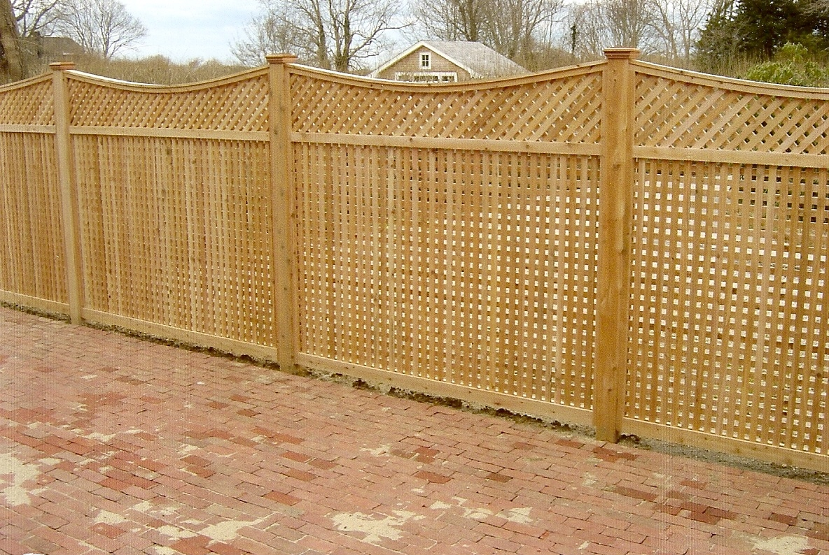 Wood lattice fence crowdbuild for lattice fencing and fence panels pictures to pin on pinterest baanklon Images